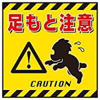 吊り下げ標識 「足もと注意」 TS-4/61-3390-40