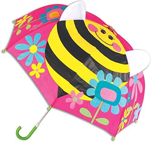 ステファンジョセフ 傘 Stephen Joseph 女の子用雨の日が楽しくなっちゃうお花とバタフライさんポップアップアンブレラ [並行輸入品]
