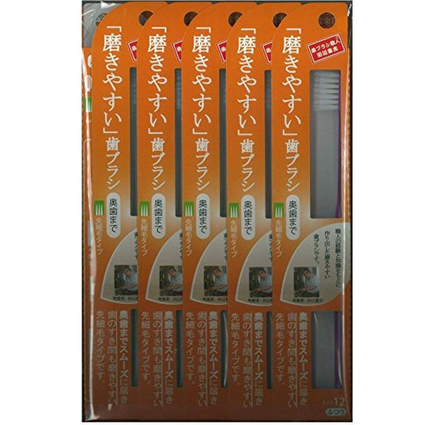 崖うなり声タイプライター磨きやすい歯ブラシ(奥歯まで)先細 LT-12×12本セット( ピンク×4本、ブルー×4本、グリーン×2本、パープル×2本)