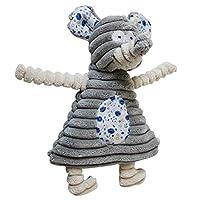 UEETEK ペット用噛むおもちゃ 歯磨き ストレス解消 ぬいぐるみ 赤ちゃん 犬 猫用(象)