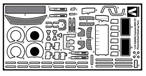 1/24 ディテールアップパーツ No.04 GRB インプレッサWRX STI'10用 エッチング&メタルパーツセット