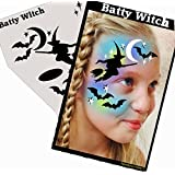 Halloween Face Painting Stencil - StencilEyes Profile Batty Witch by ShowOffs Body Art