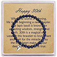 OFGOT7 30th Birthday Gifts for Women Turning 30 - Bead Bracelet with Message Card & Gift Box - Thirtieth