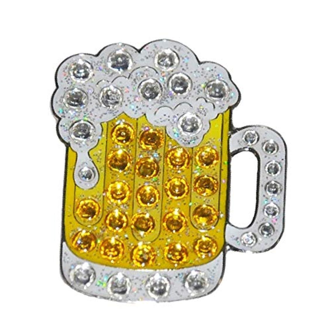 調べる暫定の検閲navikaナビカ【 スワロフスキー クリスタル ゴルフボールマーカー Beer 】 ビール ハットクリップ付 クリップマーカー