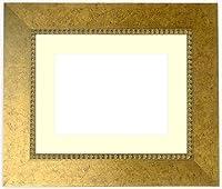 写真用額縁 HQ869/ゴールド Lサイズ(127×89mm) アクリル マット付 マット色:クリーム