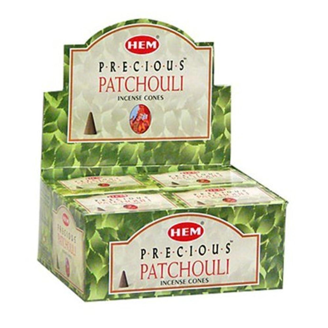 環境に優しいビルマかけるHem Preciousパチュリコーンお香 – 4パック、10 Cones 1パック