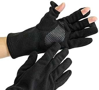 指先フードのスマホグローブ フリーサイズ ブラック