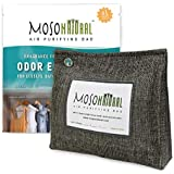 MOSO NATURAL: The Original Air Purifying Bag. 300g Stand Up Design. for Closets, Bathrooms, Pet Areas. an Unscented, Chemical-Free Odour Eliminator (Charcoal)