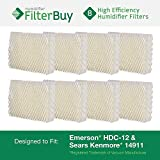 Emerson HDC-12 (HDC12) & Sears Kenmore 14911 Replacement Humidifier Wick Filters. Pack of 8 Filters. Designed by FilterBuy. by FilterBuy