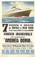 Andrea Doriaヴィンテージポスター(アーティスト: Patrone , Giovanni )スイスC。1953 24 x 36 Signed Art Print LANT-65272-710