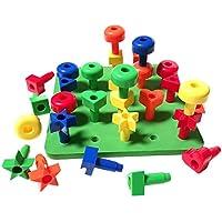SONONIA 並べ替え  ペグ ボード  おもちゃ  子供  遊ぶ  30ペグ  色認識  ゲーム   学習 ギフト