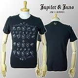 Jupiter&Juno ジュピターアンドジュノ Skull Border Short Sleeve Tee スカル ボーダー 半袖 Tシャツ JM1122094-BLK-2XL