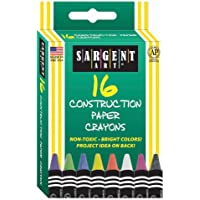 Sargent Art 35-0537 16-Count Construction Paper Crayon by Sargent Art