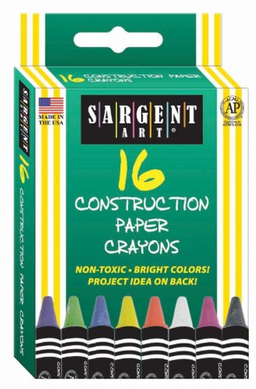 Sargent Art 35-0537 16-Count Construction Paper Crayon by Sargent Art