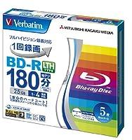 三菱ケミカルメディア Verbatim 1回録画用 BD-R 5枚 LTH TYPE VLR130YP5V1 (片面1層/1-4倍速/5枚)