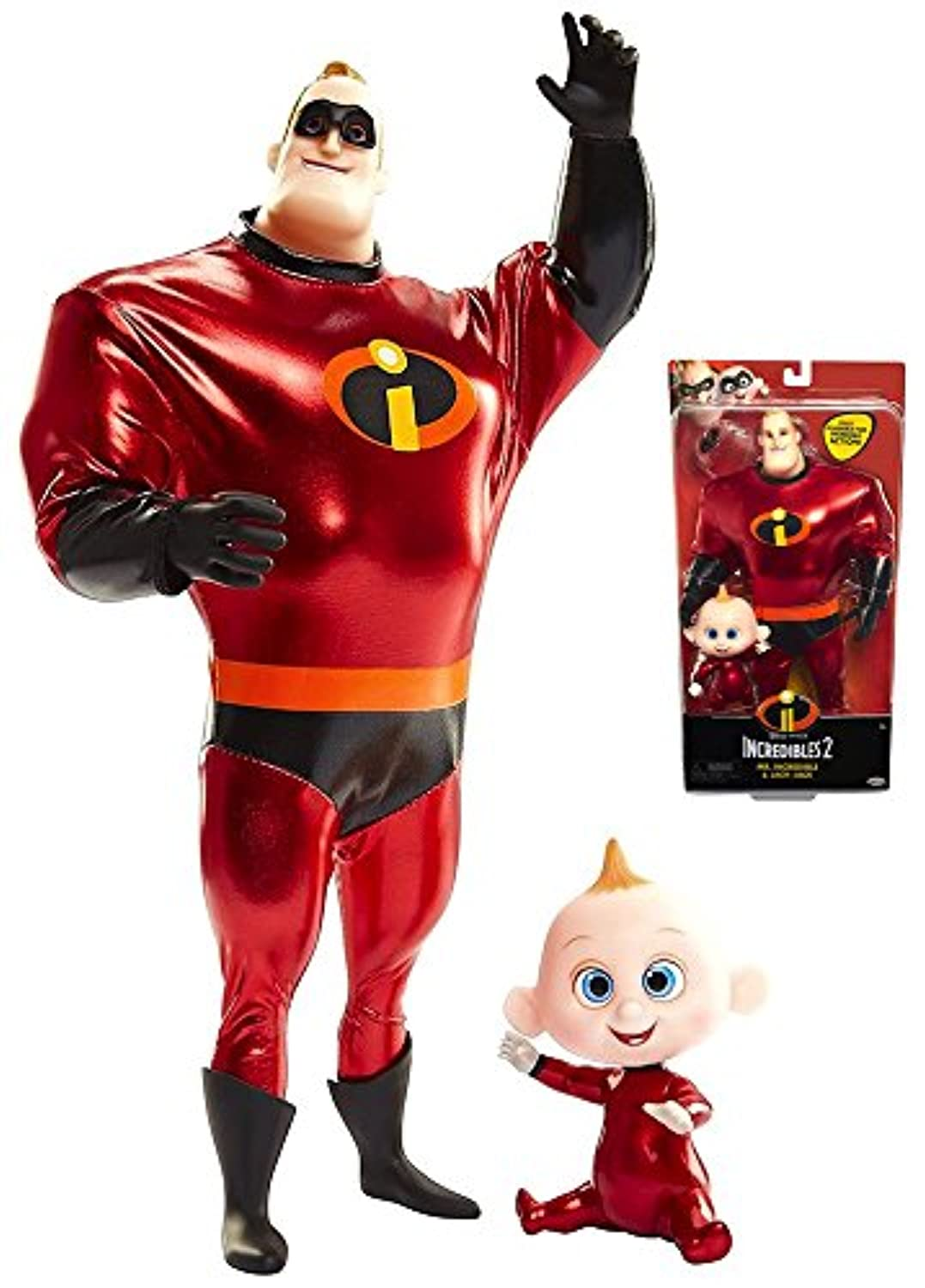 The Incredibles 2 Mr. Incredible & Jack Jack Dolls 30cm Scale
