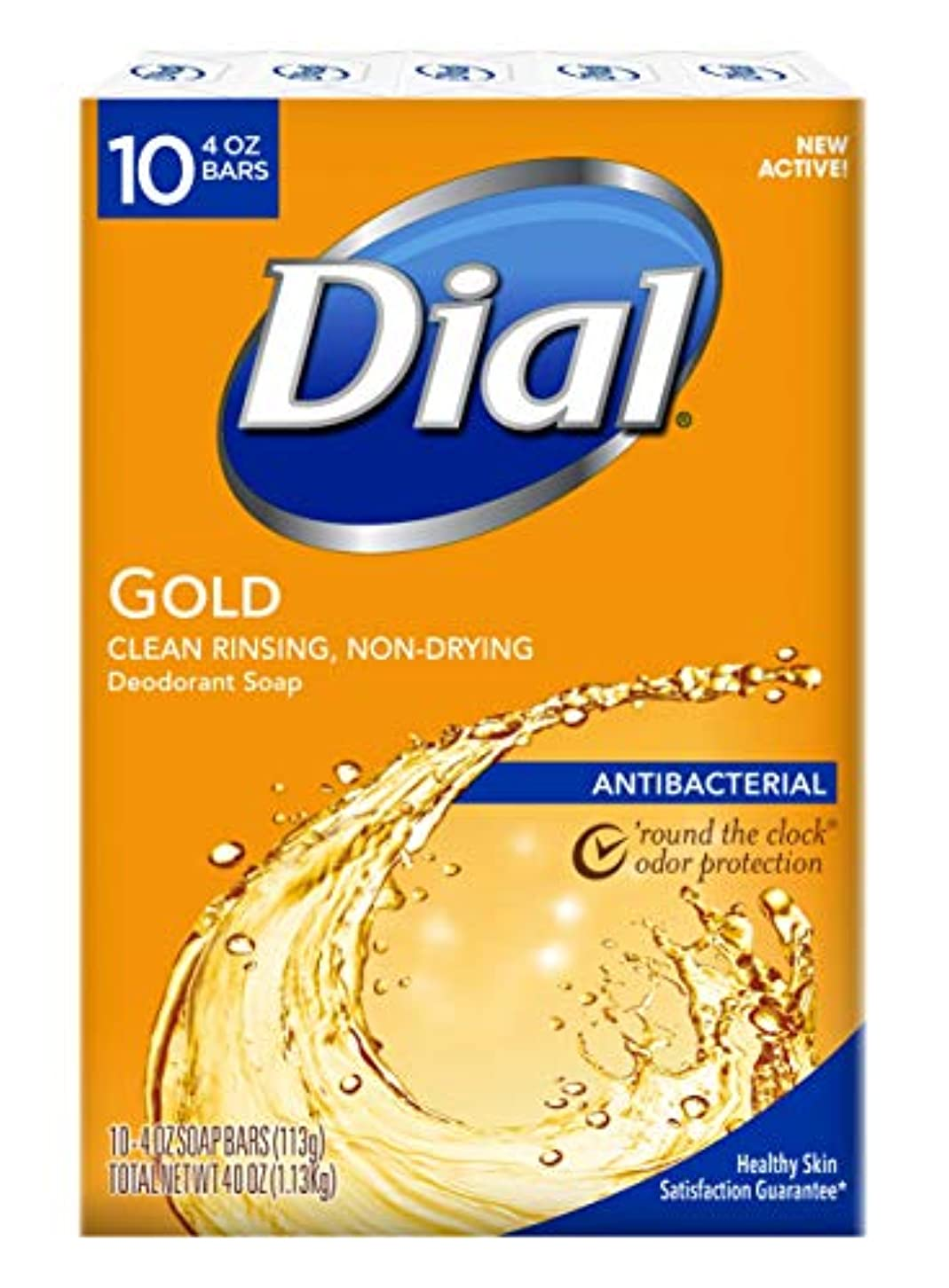 スペード地下雑種Dial Antibacterial Deodorant Bar Soap, Gold, 4-Ounce Bars, 10 Count (Pack of 3)