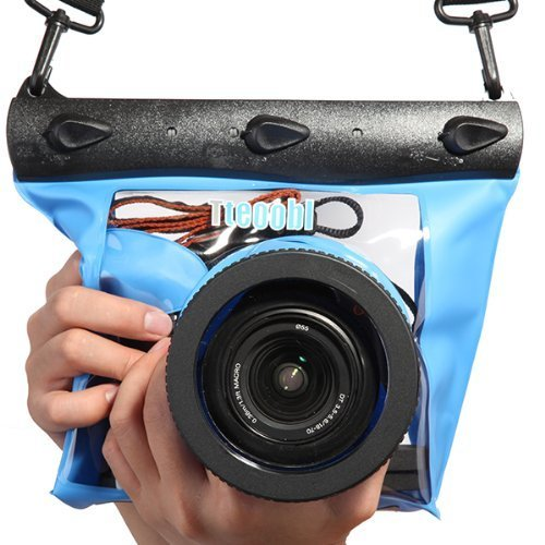 Tteoobl Blue Waterproof Bag Pouch Case Cover for SLR DSLR Camera Canon 600D 40D 60D 7D 5D , Nikon D80 D90 D700 D5100 7000 (Camera is not included) [並行輸入品]