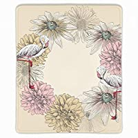 クロス ゲーミング マウスパッド フラミンゴの花