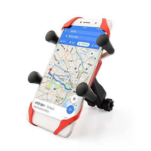 Focusam 自転車ホルダー バイクスマホホルダー 携帯バイクスタンド GPSナビ・スマホ・iPhone固定用 バーマウントキット 360度調整可能 落下防止 iPhone/Samsung/Sony/GPSなど多機種対応