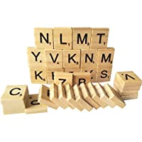 500 Wooden Alphabet Scrabble Tiles A-Z(All Letters Include)Capital Mixed Letters For Crafts