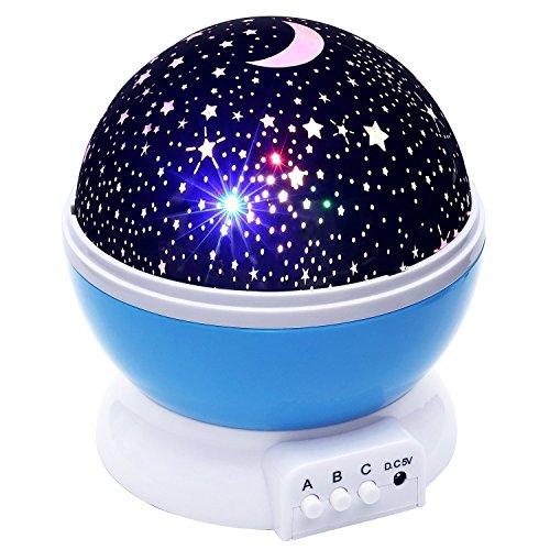 投影ランタン スポット星空ライト スタープロジェクター USB給電 回転 多色変更 室内用 プレゼントナイトライト、360度回転スタースカイプロジェクターナイトライト、ベビー/子供/子供のためのベッドルームクリスマス赤ちゃんギフト保育園ライト-9 光の色を変更する4.9 フィート (1.5 メートル) USB ケーブル