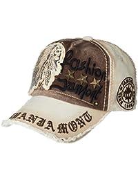LOLONG 男女兼用 カジュアル 帽子 綿 刺繍入りベースボールキャップフ