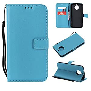 Motorola Moto G6 Plus Case, Motorola Moto G6 Plus Cover Thin Flip Cover Case アンチスクラッチ シリーズ Phone Case for Motorola Moto G6 Plus by LoveBee (Sky-blue)