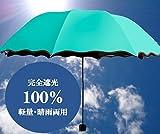 [NET-O] 折りたたみ傘 完全遮光 日傘 レディース アンブレラ 紫外線 遮光率100% 腕まで日陰 大型90cm 晴雨両用 母の日 プレゼント 入社祝い 入学祝い プレゼント 安心保証 vr2 (スカイブルー)