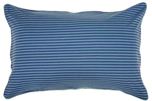 メリーナイト(Merry Night) 綿100% ニット素材 枕カバー ボーダー柄 43×63cm ネイビー NT43631-72