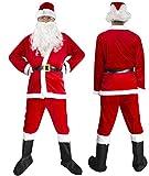 サンタクロース 衣装 メンズ 5点セット Cuteshower クリスマス コスプレ サンタ コスチューム L