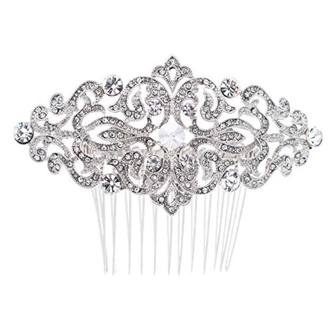 平らにする証拠退屈なRhinestone Crystal Hair Comb,Bridal Wedding Hairpin,Side Hair Comb,Hair Accessories Jewelry FA5016 [並行輸入品]
