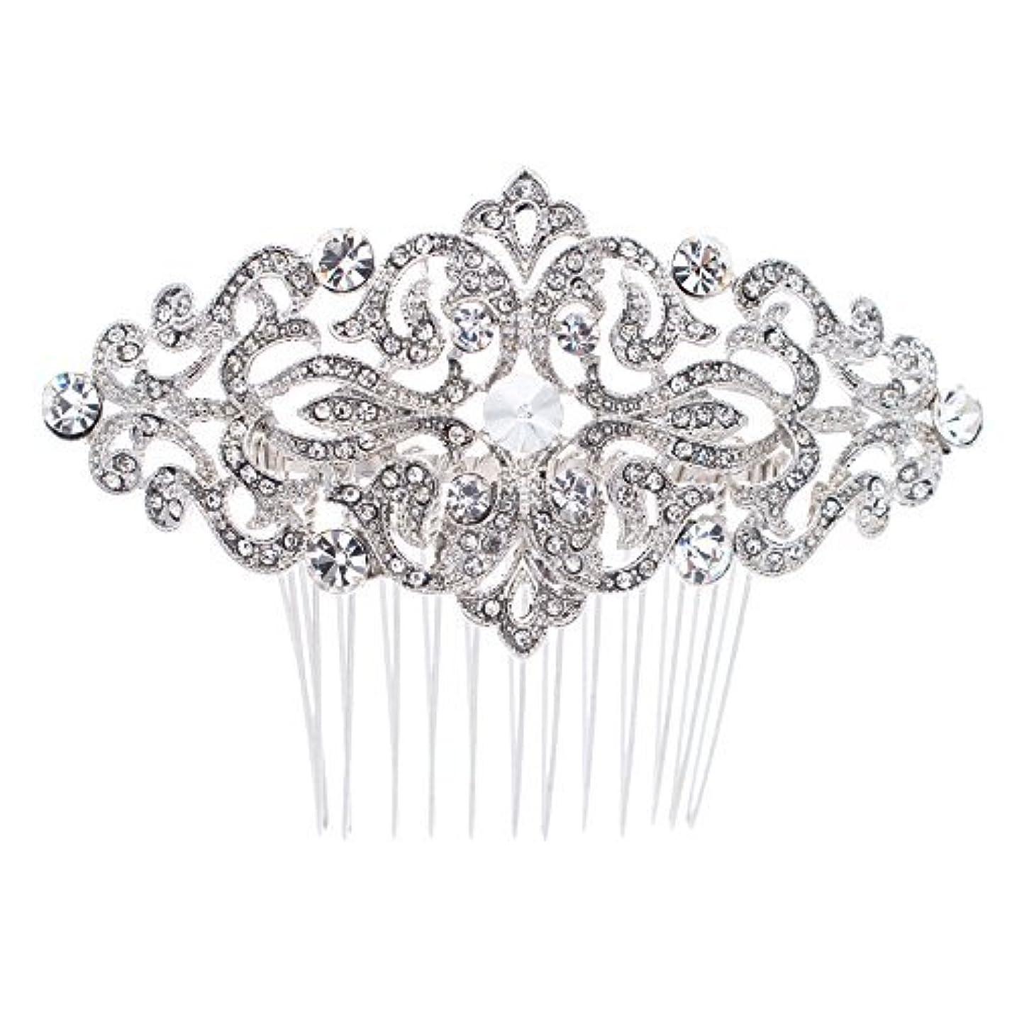 白い便益棚Rhinestone Crystal Hair Comb,Bridal Wedding Hairpin,Side Hair Comb,Hair Accessories Jewelry FA5016 [並行輸入品]