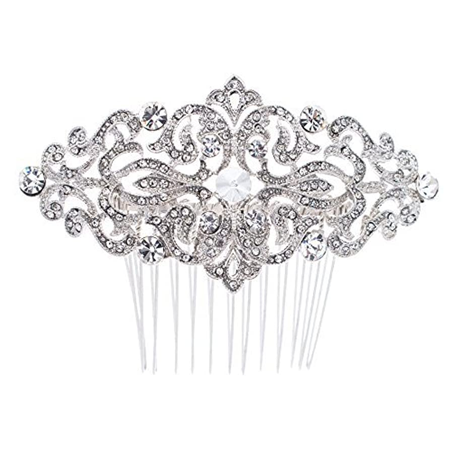 バランスのとれた印象派不誠実Rhinestone Crystal Hair Comb,Bridal Wedding Hairpin,Side Hair Comb,Hair Accessories Jewelry FA5016 [並行輸入品]