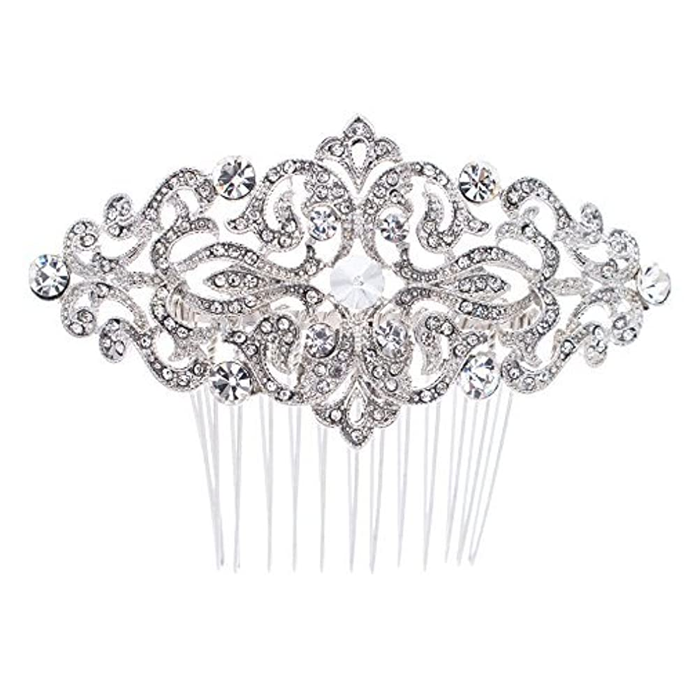 考古学ヒロイックトレースRhinestone Crystal Hair Comb,Bridal Wedding Hairpin,Side Hair Comb,Hair Accessories Jewelry FA5016 [並行輸入品]