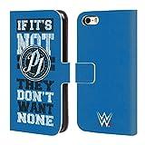 オフィシャル WWE They Don't Want None Aj・スタイルズ レザー手帳型ウォレットタイプケース Apple iPhone 5 / 5s / SE