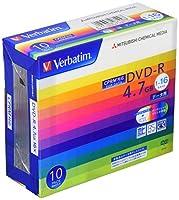 Verbatim バーベイタム 1回記録用 DVD-R CPRM 4.7GB 10枚 ホワイトプリンタブル 片面1層 1-16倍速 DHR47JDP10V1