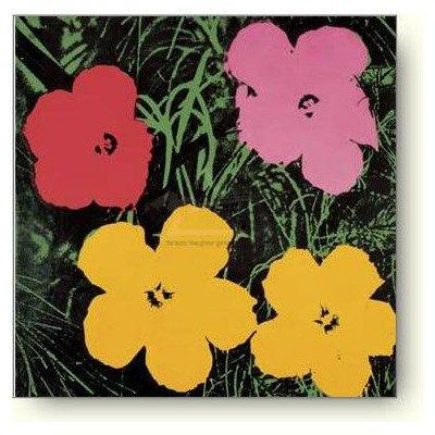 アンディ ウォーホル 花 1964年(1レッド 1ピンク 2イエロー) アートポスター