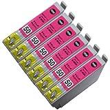 エプソン汎用インク ICM50対応汎用インク マゼンダ6本