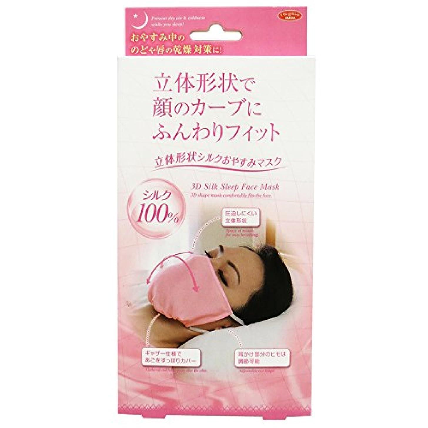 四分円アクセス一部アイメディア 立体形状シルクおやすみマスク