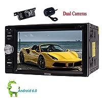 EinCar 6.2「」ブルートゥース無線LAN / OBD2 /スクリーンミラーリング車のデッキAutoradioヘッドユニット+ FREEデュアルカメラとダッシュカーDVDラジオビデオオーディオプレーヤーでのAndroid 6.0のカーステレオダブルディンインチ