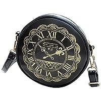 Gaorui Women's Round Clock Pattern Retro Cross-Body Shoulder Bag Handbag Satchel Purse