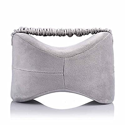 Queen Rose Slow Rebound Memory Foam Leg Pillow with Elastic Strap - Wedge Contour Orthopedic Knee Pillow for Sciatica Relief, Back Pain, Leg Pain, Pregnancy, Hip and Joint Pain - with Washable Cover
