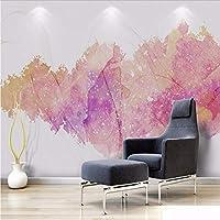 Weaeo カスタム3D立体的なミニマリストのモダンな壁紙ノルディックシンプルな抽象的な水彩インクの煙の背景装飾の壁紙-400X280Cm