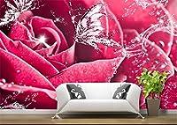 Yosot 3Dの壁紙カスタムフォトの不織布の壁画の写真ローズウォーターの甘い絵画 3 D の壁画壁紙部屋の装飾絵画を愛する-450Cmx300Cm
