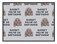Basset Fauve De Bretagne犬種キッチンドアペットウェルカムフロアマット 75x45cm