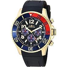 Invicta Men's Pro Diver Stainless Steel Quartz Watch with Silicone Strap, Black, 24 (Model: 29713)