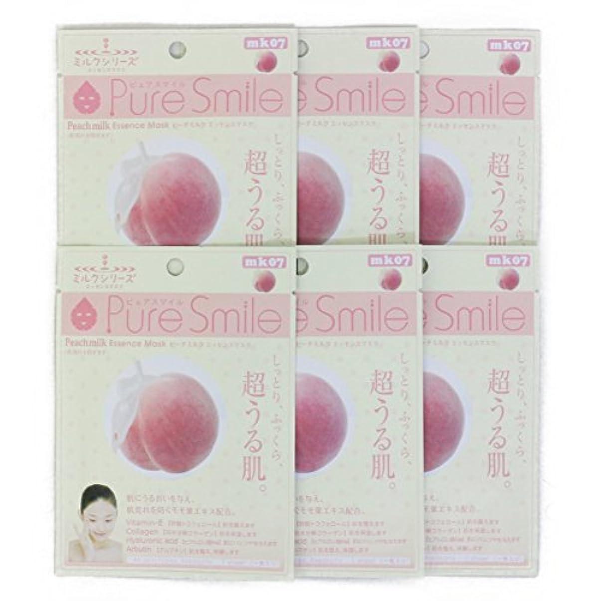 折ゲーム一瞬Pure Smile ピュアスマイル ミルクエッセンスマスク ピーチミルク 6枚セット