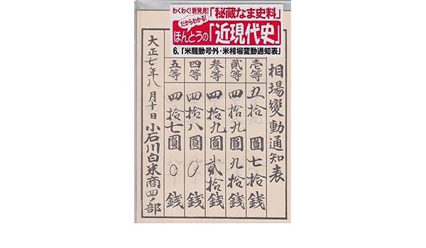 米騒動「米相場変動通知表」 (だ...