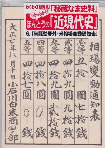 米騒動「米相場変動通知表」 (だからわかる!ほんとうの「近現代史」シリーズ)